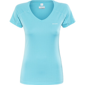 Columbia Zero Rules Camisa Manga Corta Mujer, atoll